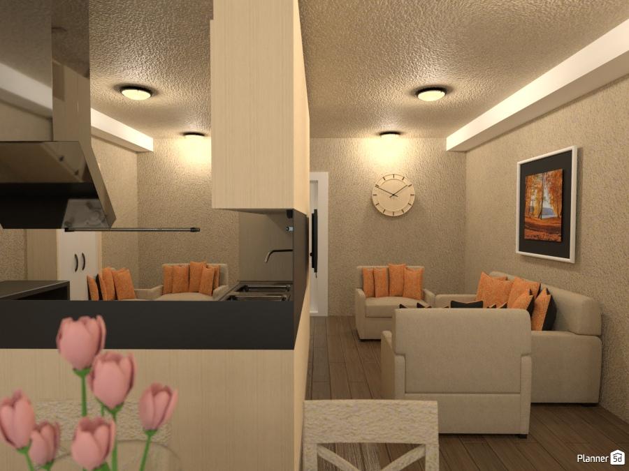 neutral toned dining, kitchen, livrm. 74671 by Joy Suiter image