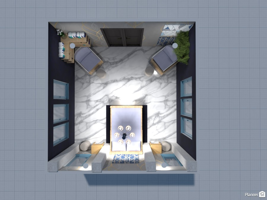 Blue Marble Bedroom 84174 by Logan image