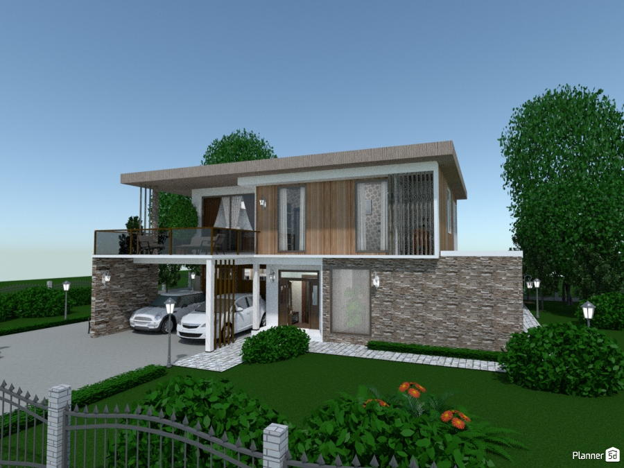 Modern house 1893808 by Evelinaa image