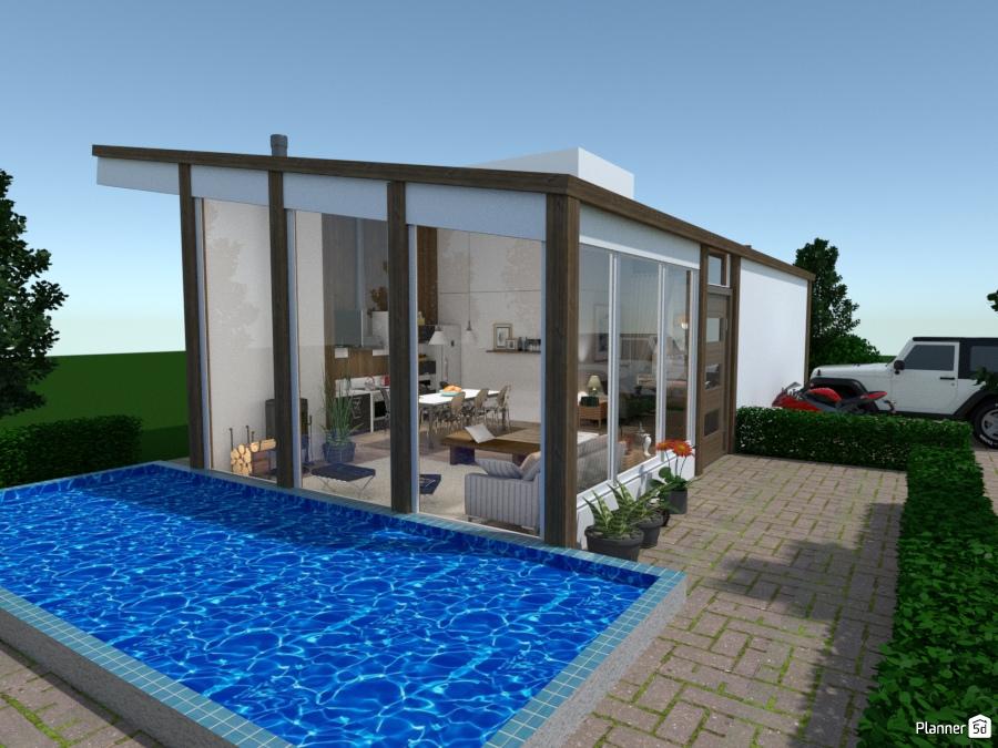 Casa moderna no campo. 66889 by Michelle Silva image