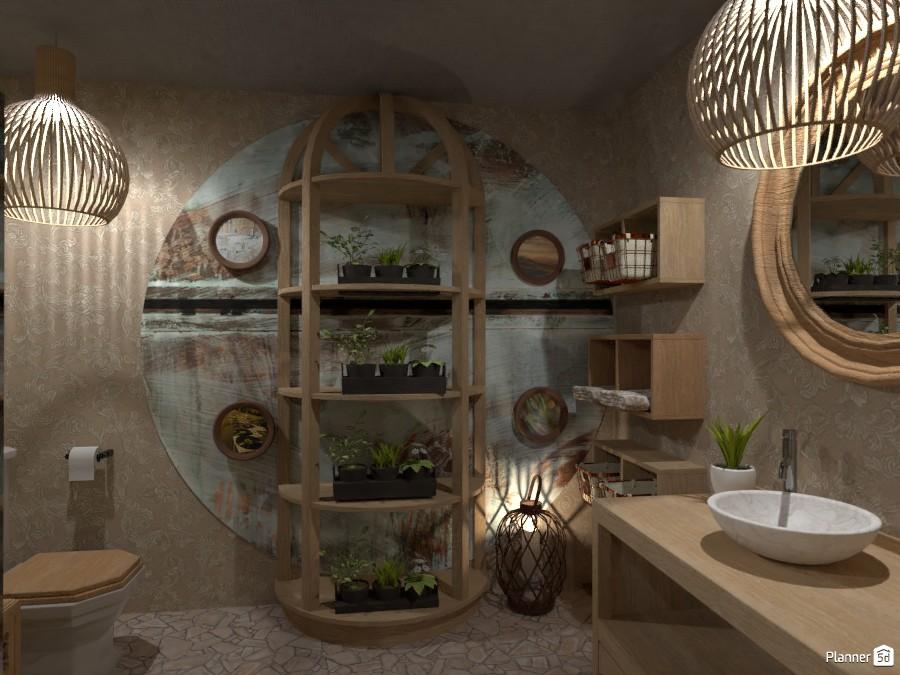 Boho style interior contest design:  Bathroom 3566371 by Doggy image