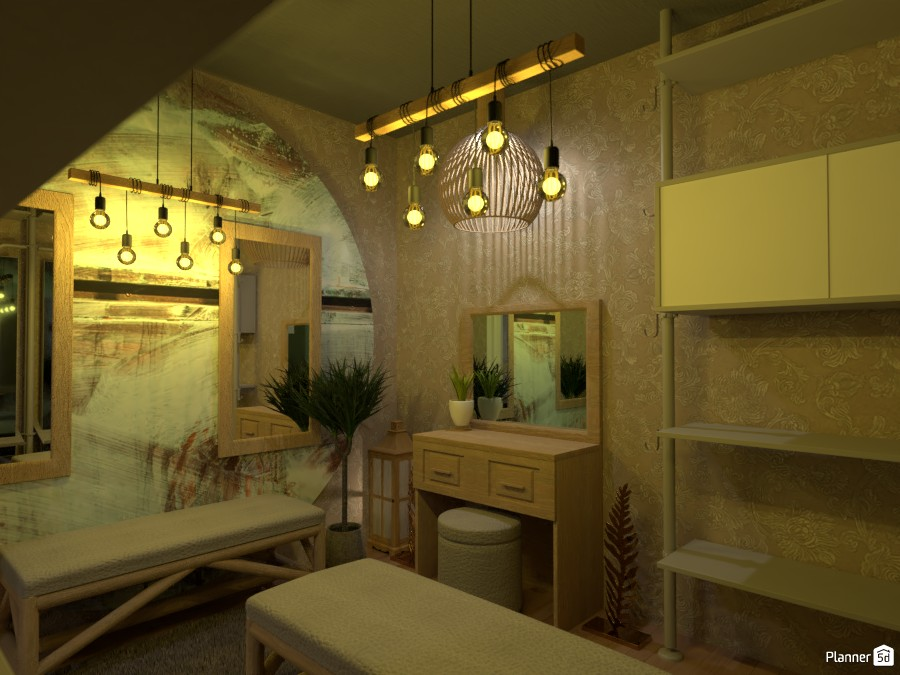 Boho style interior contest design 81992 by Doggy image