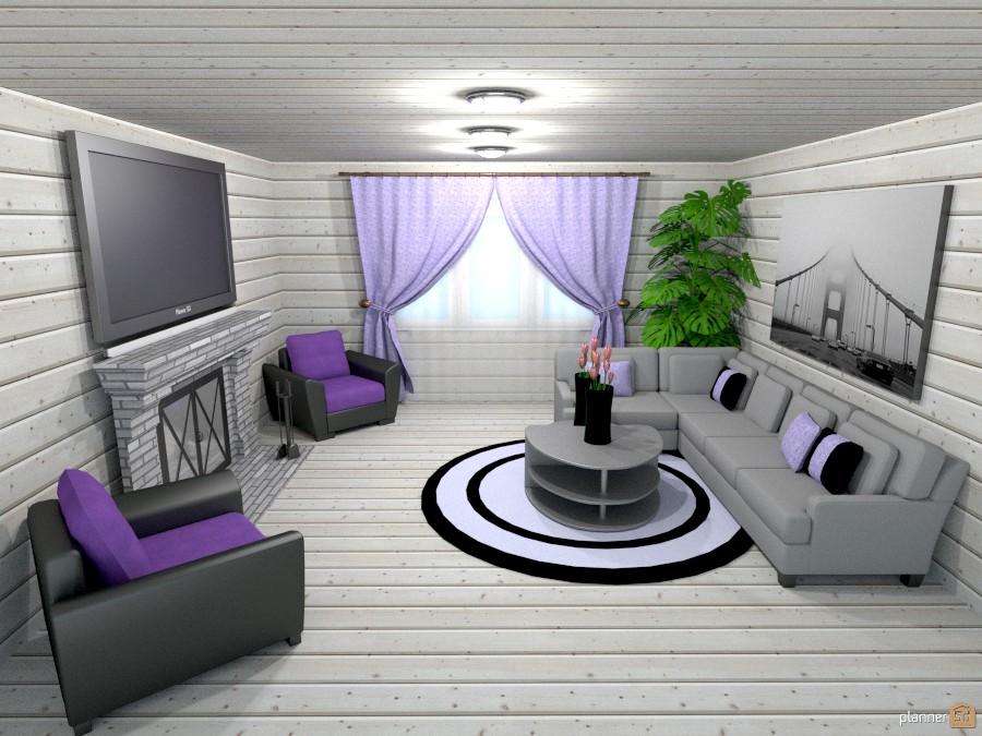 gray/lavender living room 807891 by Joy Suiter image