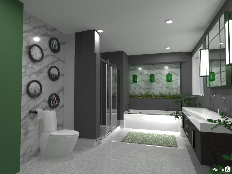 Green Bathroom 4531178 by Doggy image