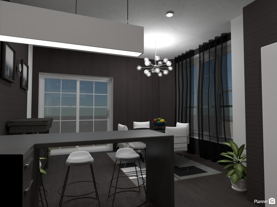 Black and White Kitchen 87086 by Doggy image