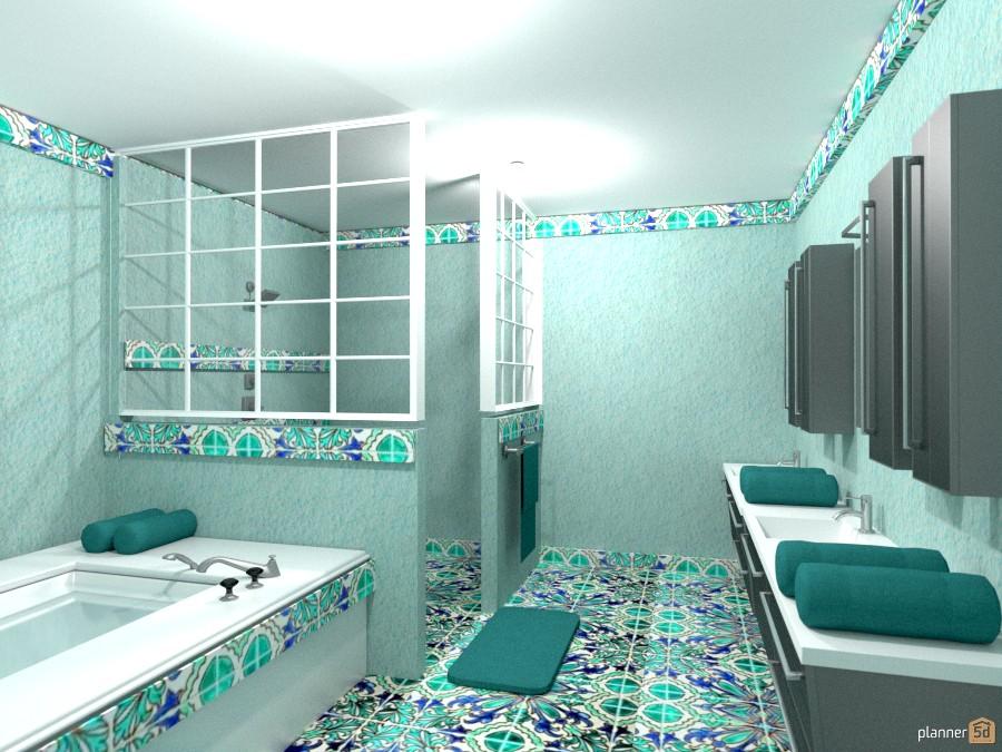 aqua tile bath 1018375 by Joy Suiter image