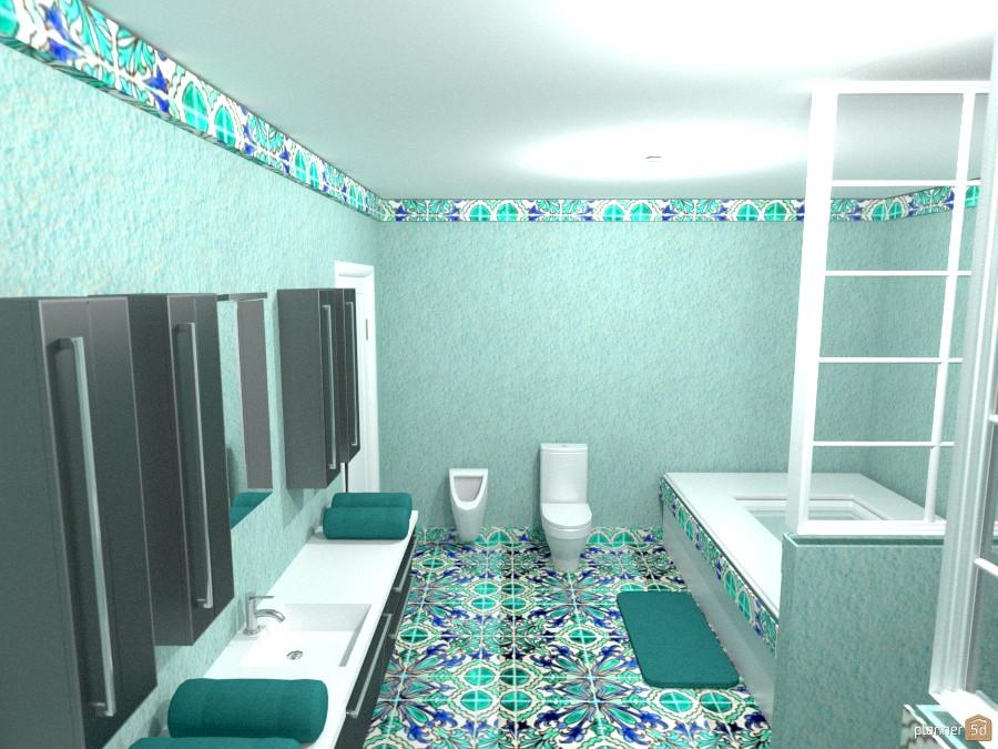 aqua tile bath 1018377 by Joy Suiter image