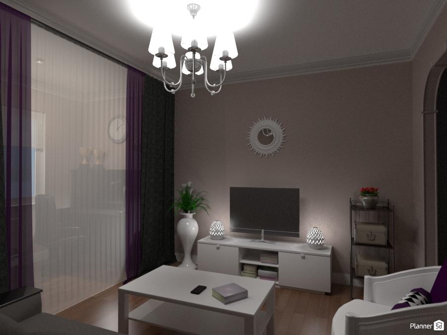 Небольшая гостиная с рабочей зоной 65901 by Elena Strenova image