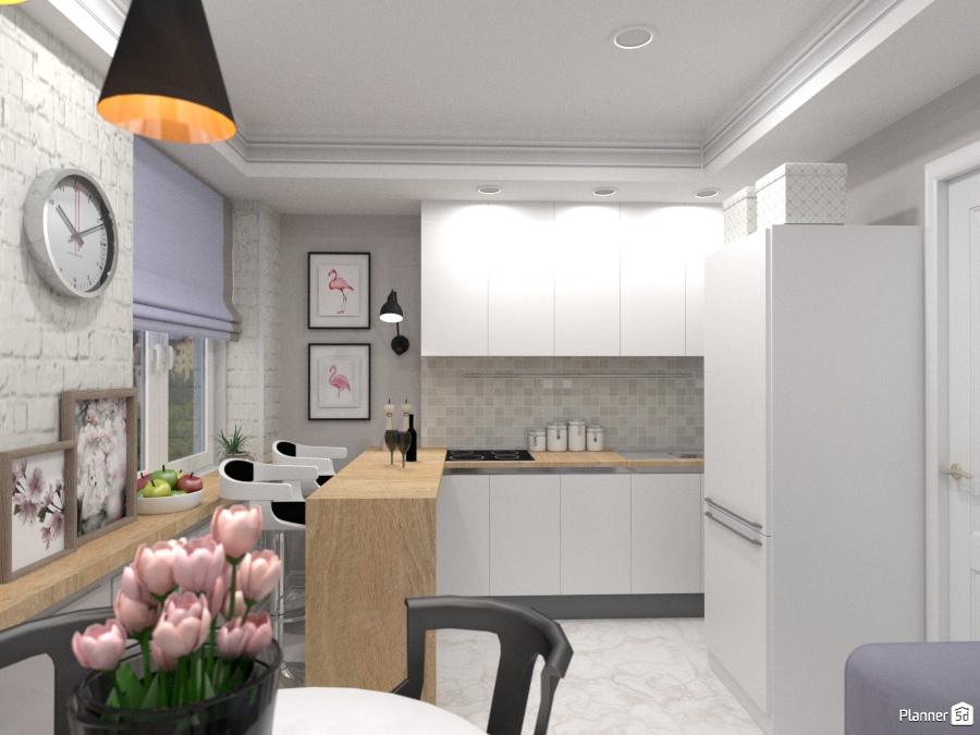 Кухня в трехкомнатной квартире 69328 by Elena Strenova image