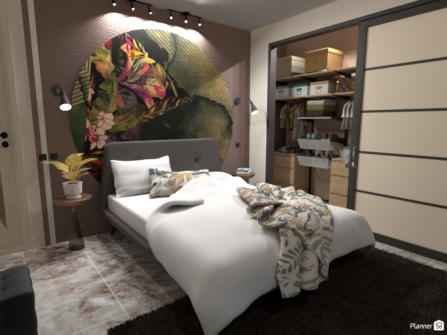 6x6 Mq with 2 Floors: Main Bedroom 4414027 by Moonface image