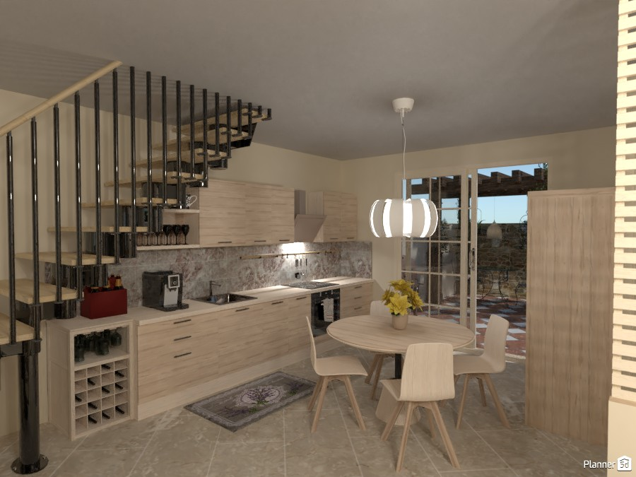 6x6 Mq with 2 Floors: Kitchen 4414160 by Moonface image