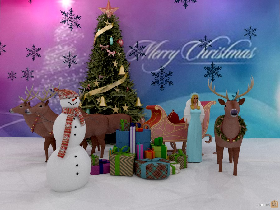Best wishes and Merry Christmas to all of Planner 5d!!! 1151453 by Svetlana Baitchourina image