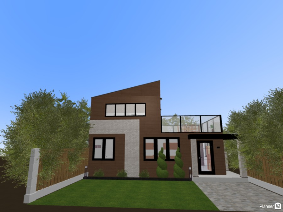Modern Wood House 84808 by Emily image