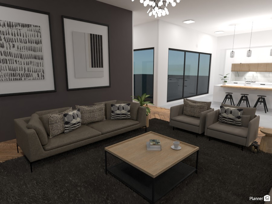 Modern two bedroom house - Scandinavian style 86795 by Ana G image