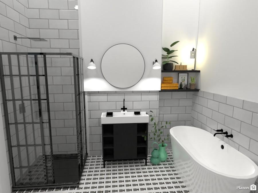 Scandinavian style modern Bathroom 4320031 by Ana G image