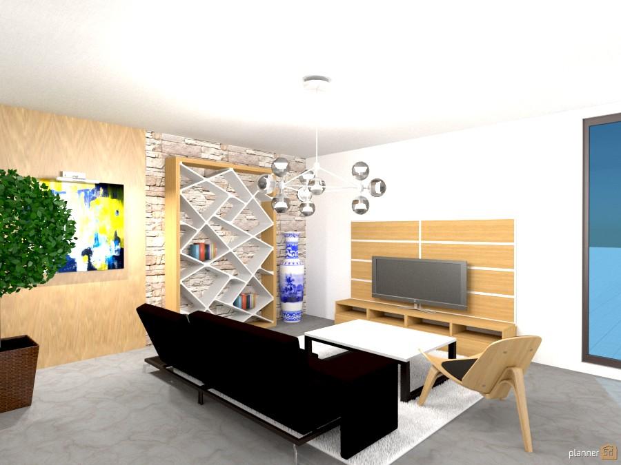 Natural minimalist living room 940545 by Yordan Radev image