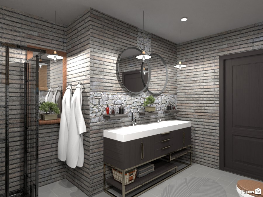Loft bathroom : Design battle contest 89778 by Gabes image