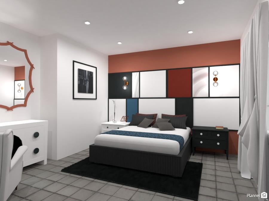 Artistic bedroom design 4474115 by kahem image