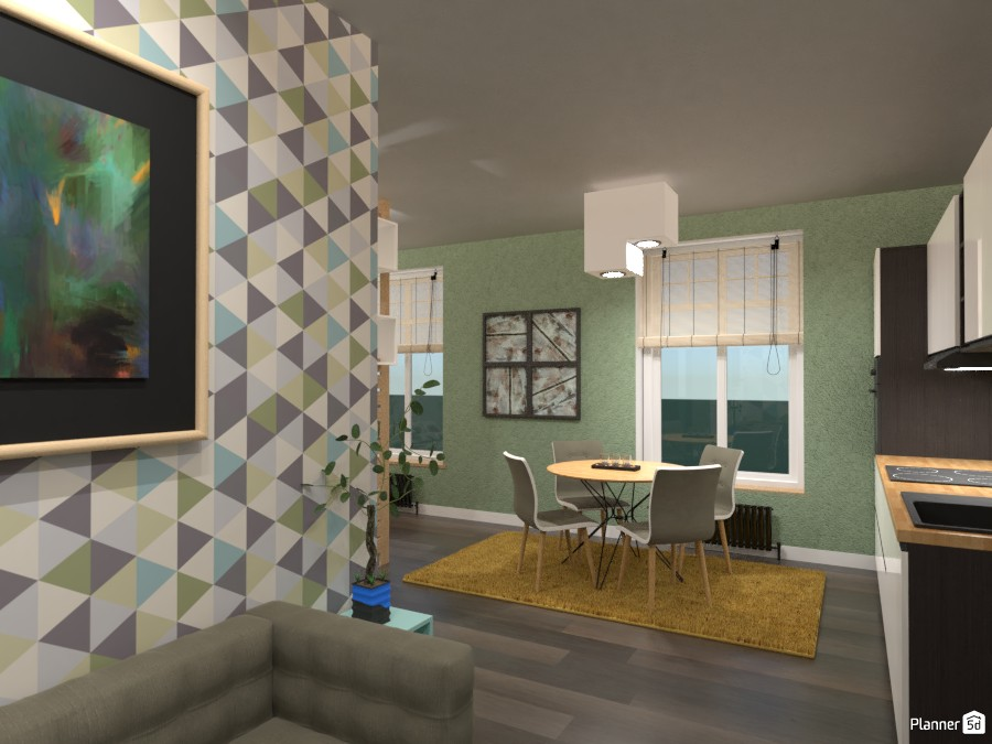 Small Apartment Interior: New contest 3523297 by Moonface image