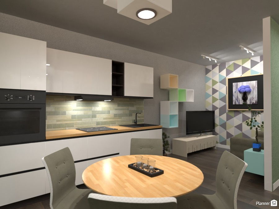 Small Apartment Interior: New contest 3523304 by Moonface image
