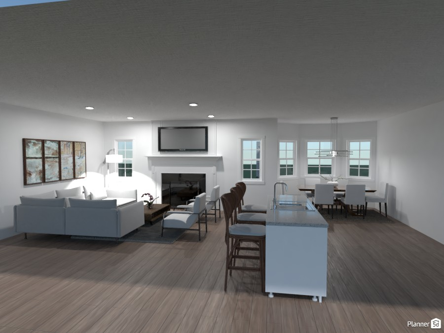 Vyas living room and dining area 4601923 by Wendy McCall image