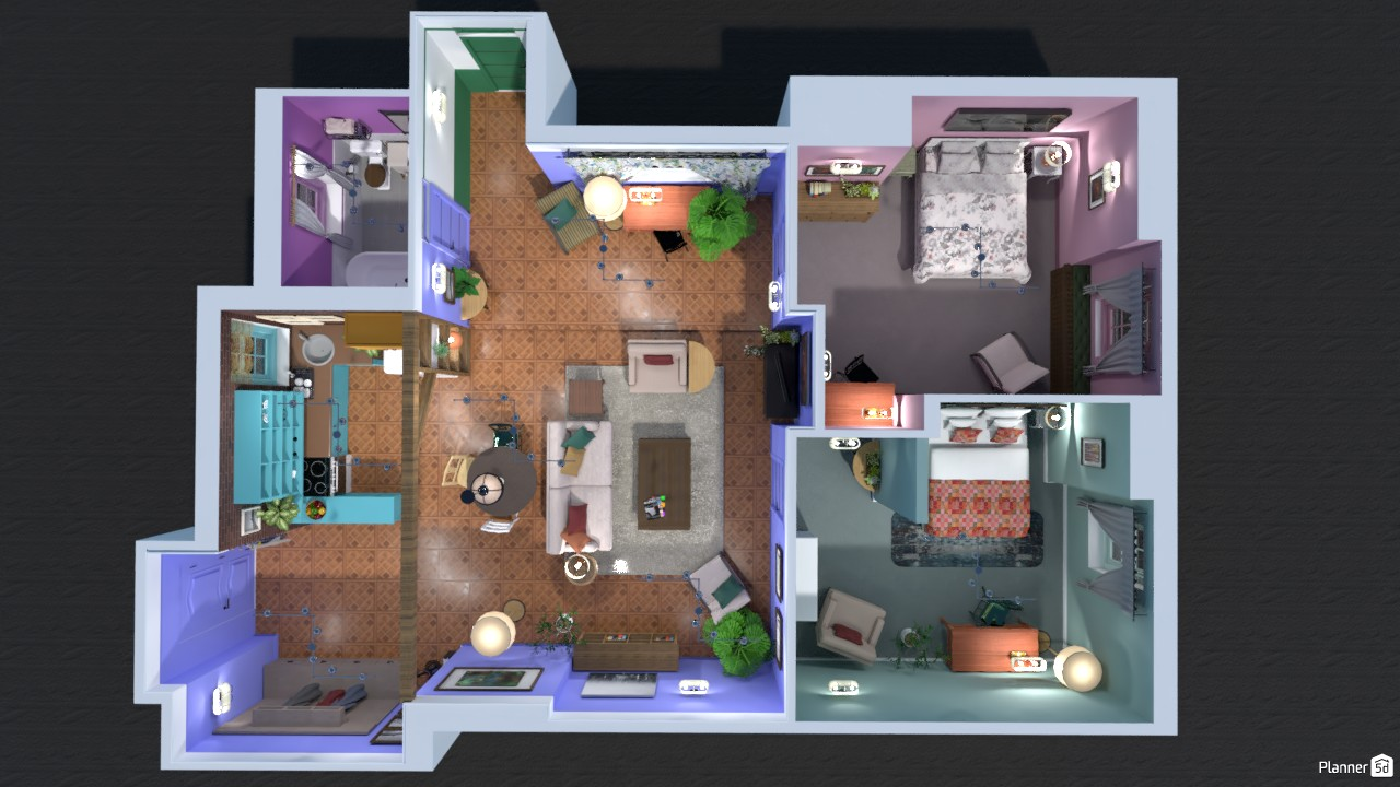 Floorplan of Monica's apartment 82897 by Evelinaa image