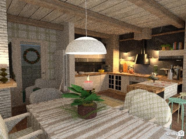 Cucina abitabile con camino 72997 by KIJK image