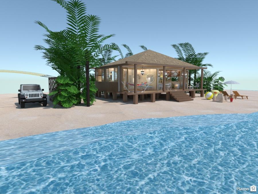 Familial Beach House Free Online Design 3d Floor Plans By Planner 5d