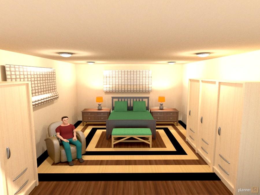 man's basememt bedroom 815631 by Joy Suiter image