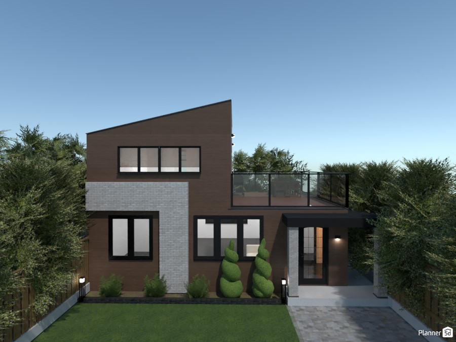 Wooden modern house 83406 by rilly image