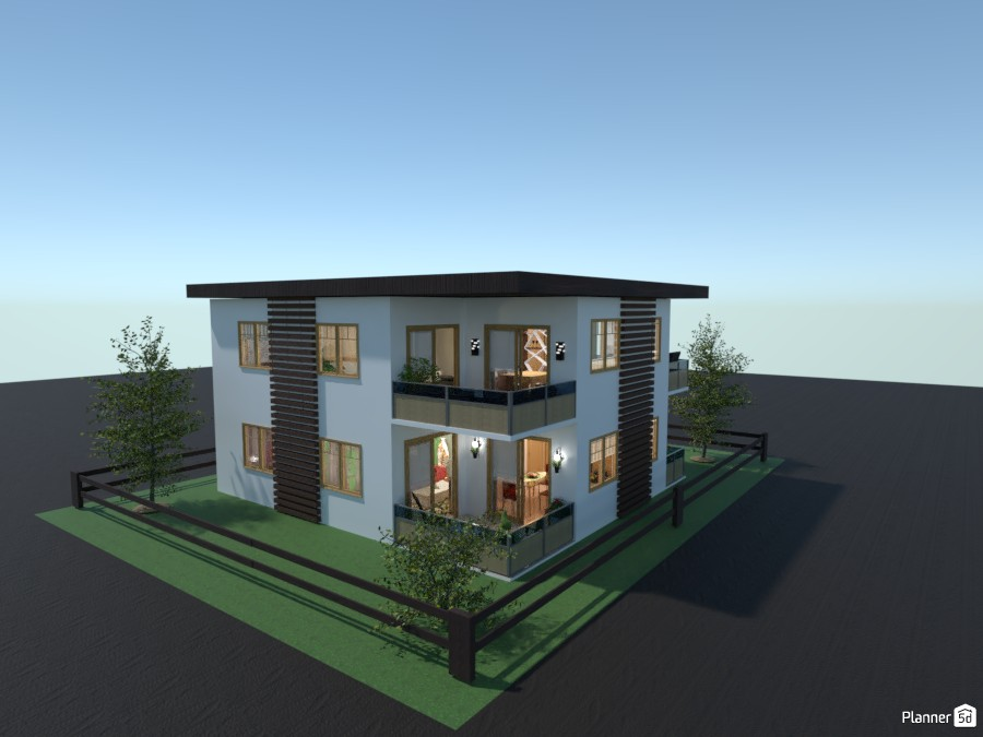 Modern house with two apartments 4386596 by Gabes image