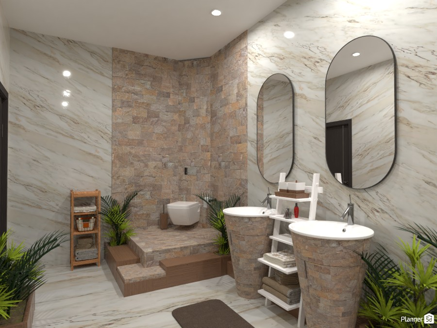 Natural bathroom: Design battle contest 4620289 by Gabes image