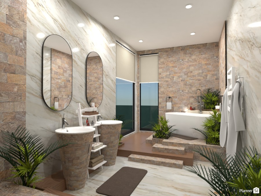Natural bathroom: Design battle contest 4620297 by Gabes image