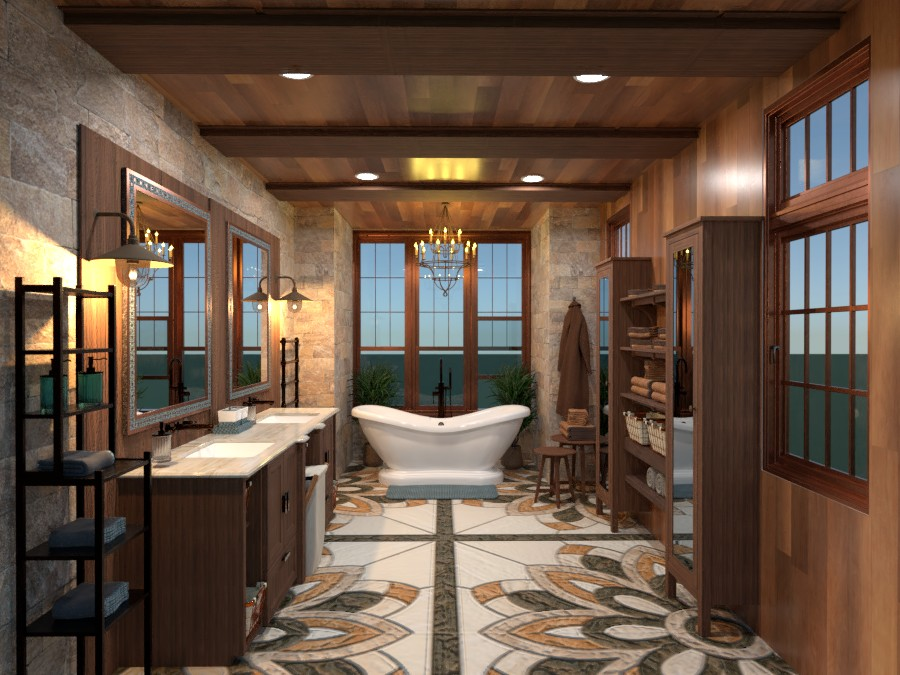 Country Master bath 3901393 by LIKE! Salvatores Design page 304 image