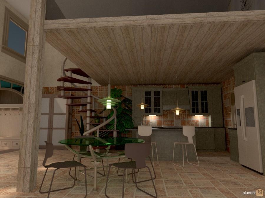Country Loft: Kitchen 423591 by Micaela Maccaferri image