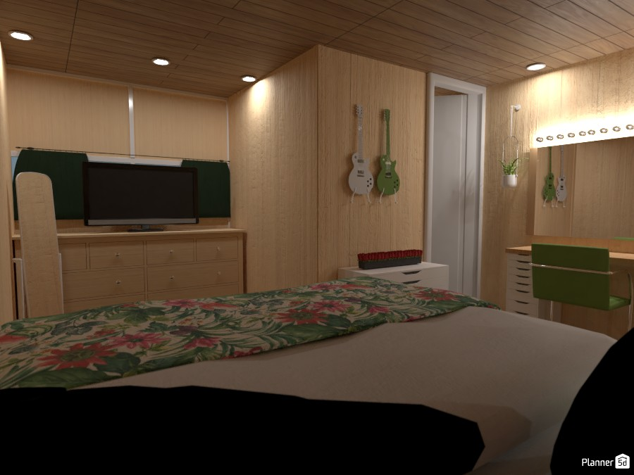 Sage Green Tiny Home Theme Bedroom 4111884 by chrissyyyy image