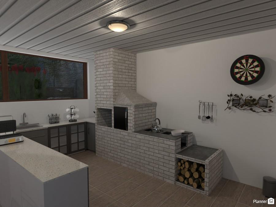 Fogão de Lenha integrado com forno e churrasgueira. 4232254 by CarlosCaetano image