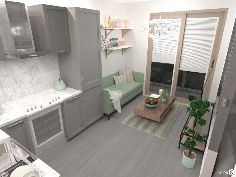 Micro apartment - main living area 4945381 by Mia image