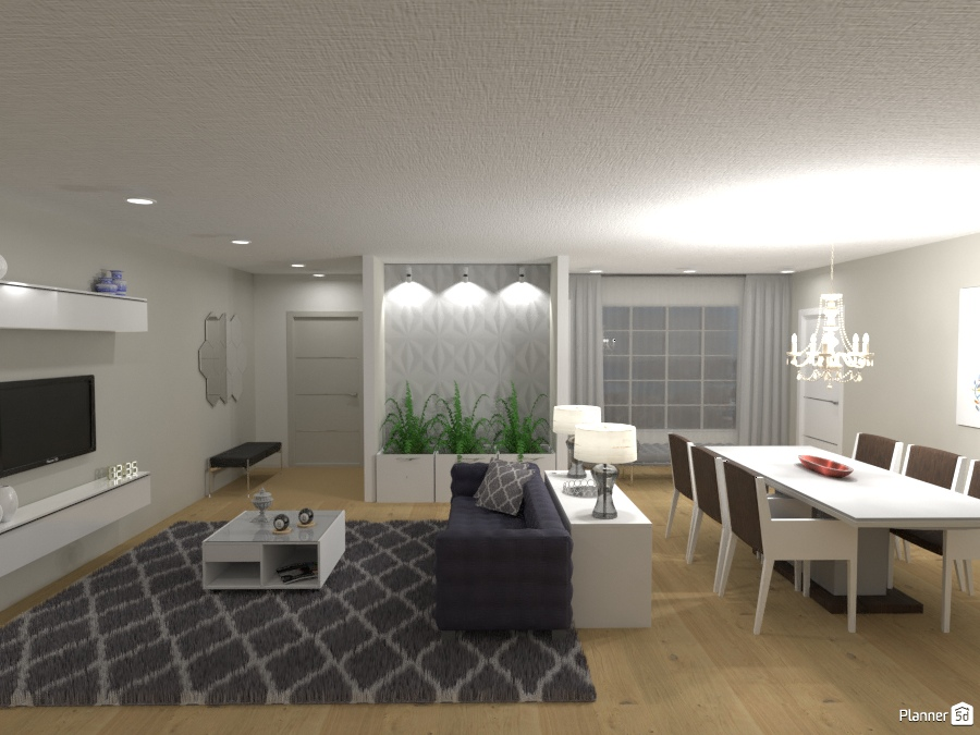 Sala de estar/ jantar moderna 2206300 by Michelle Silva image