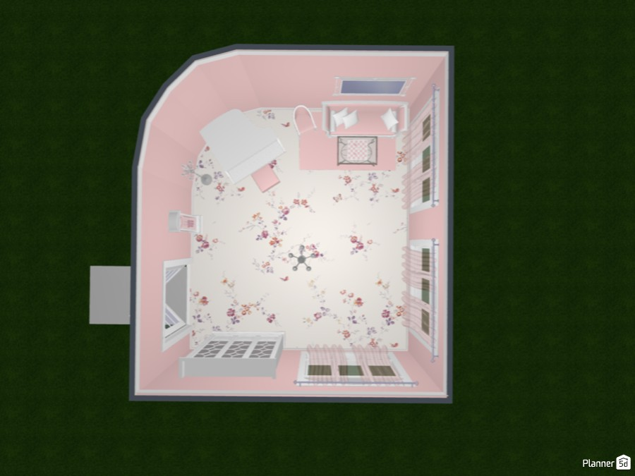 Pink & White Vintage Piano Room 83398 by devendra image