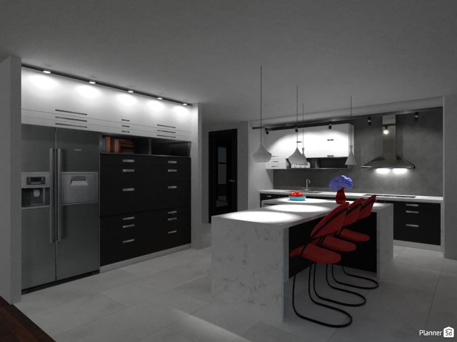 LAP0508: Modern Kitchen 2165699 by Moonface image
