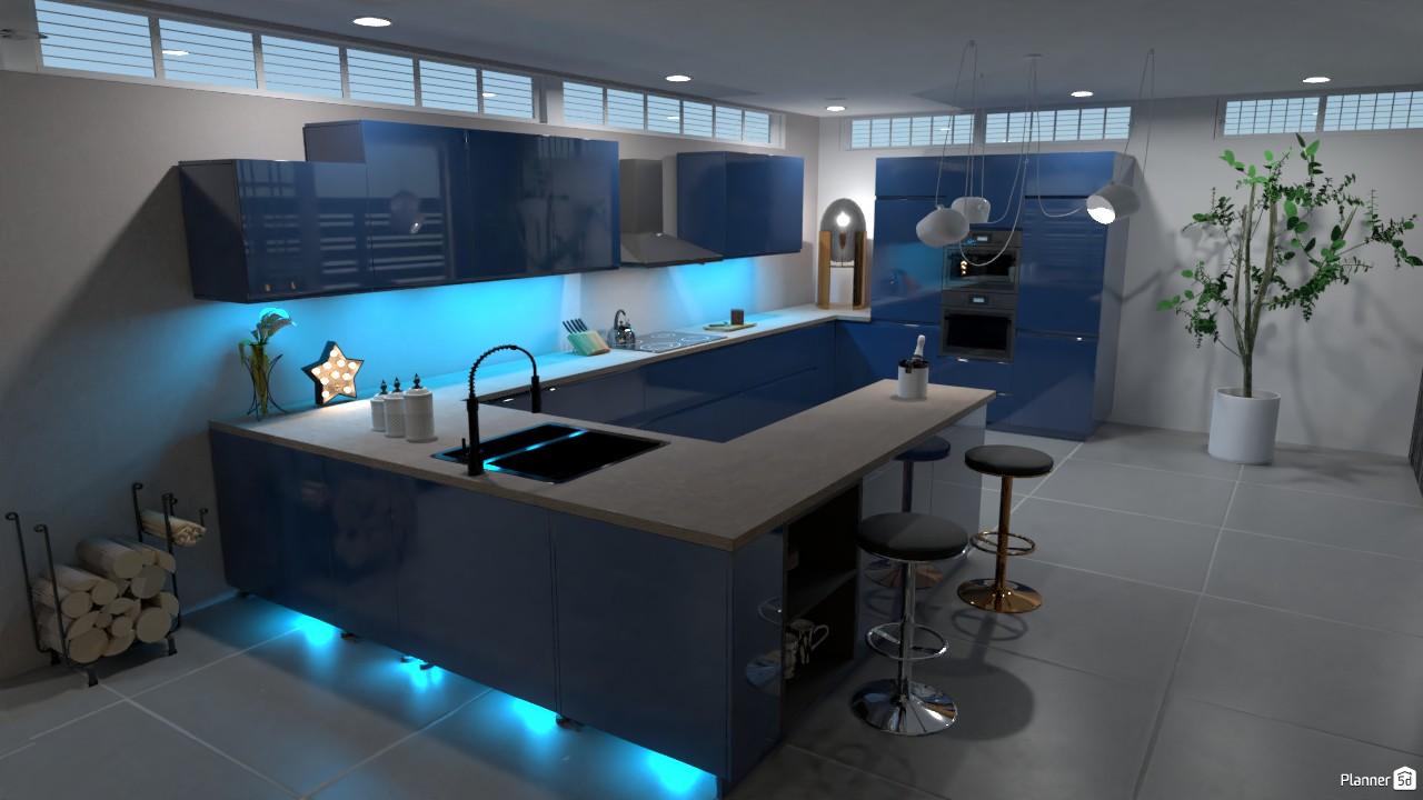 Master Kitchen design Interior   Free Online Design   9D House ...