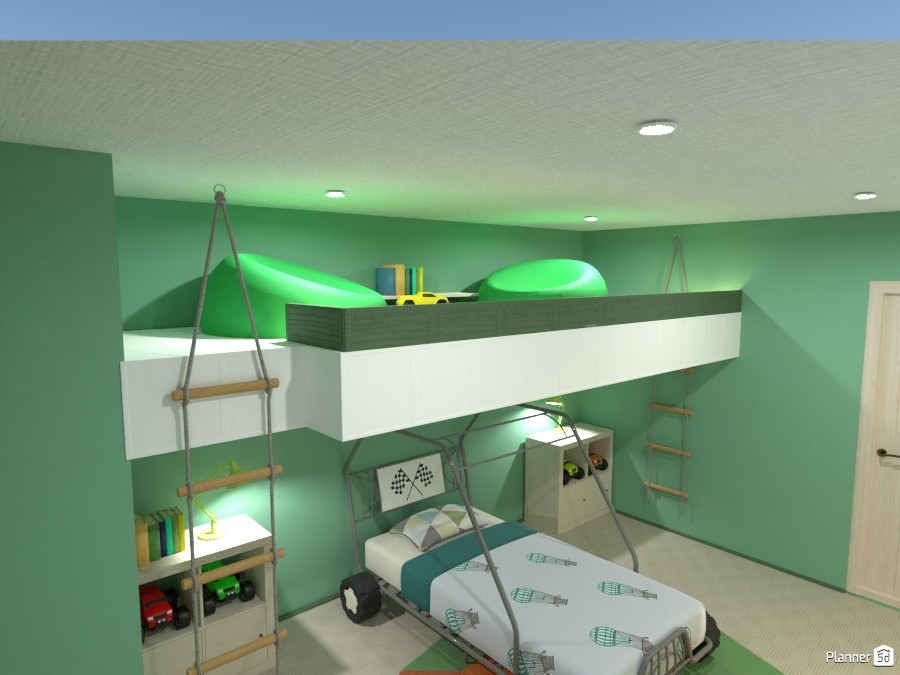 Boy's bedroom with gallery 85102 by Gabes image