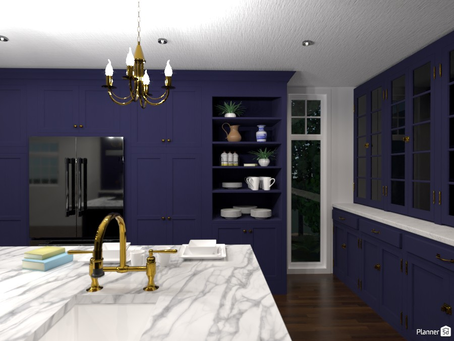 Blue kitchen 3001667 by Sundis image