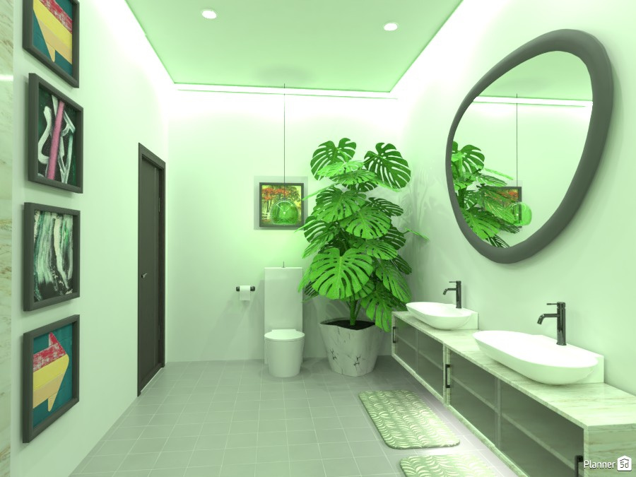 Green bathroom (turned out brighter than I wanted) 4600904 by Doggy image