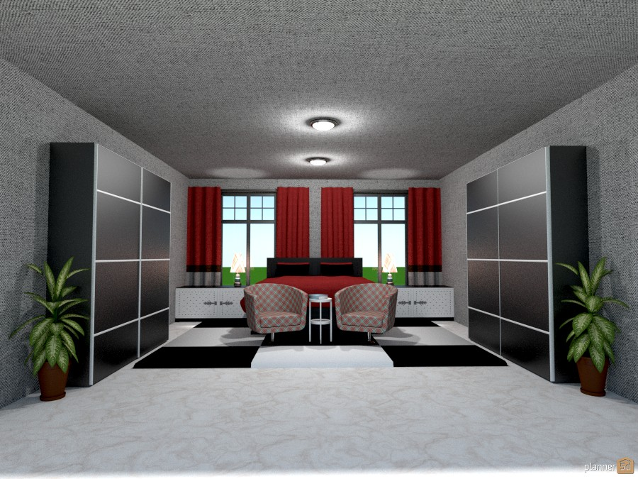 black and white checkered floor bedroom 813093 by Joy Suiter image