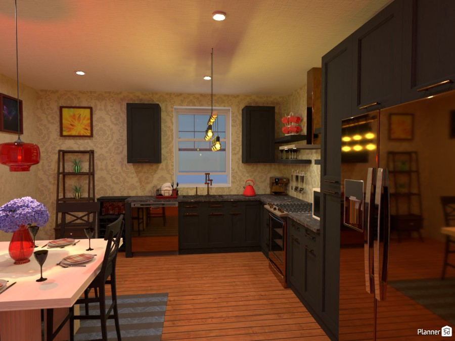 Kitchen with colorful accents 4485532 by Born to be Wild image