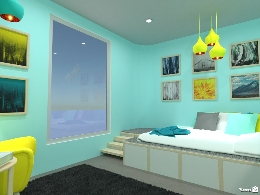 Blue and Yellow Bedroom! 5029694 by Doggy image