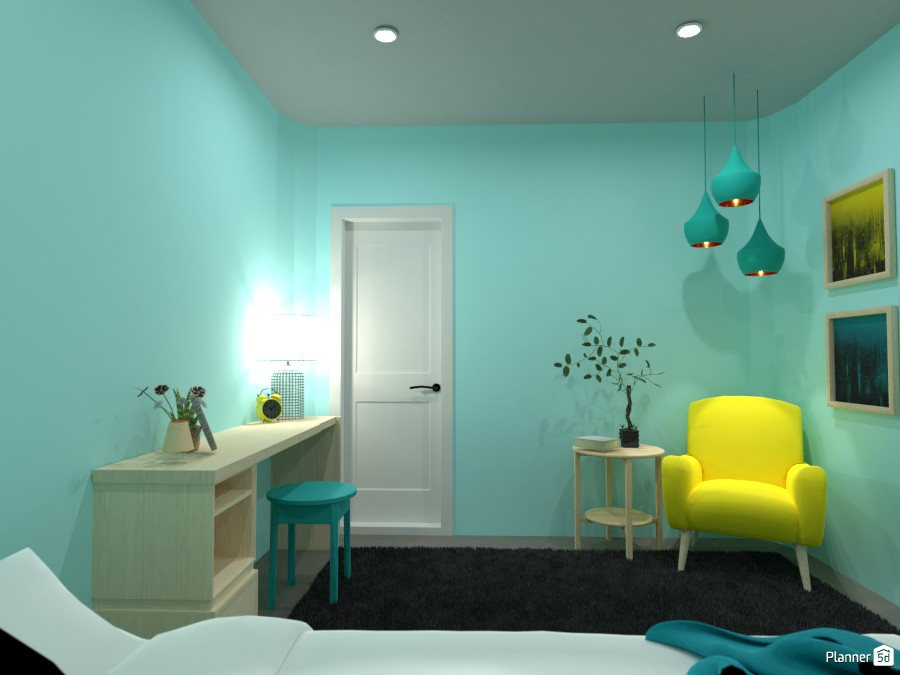 Blue and Yellow Bedroom! 5029718 by Doggy image