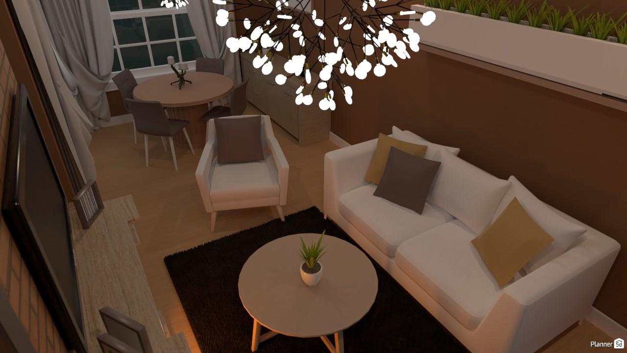 Comedor y sala de estar (d) 3761655 by Hall Pat image